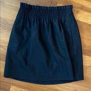 J. Crew Size 0 Black Wool Skirt